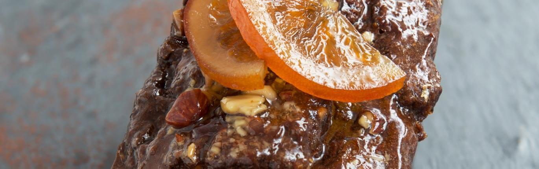 Cake orange chocolat eclats d'amande