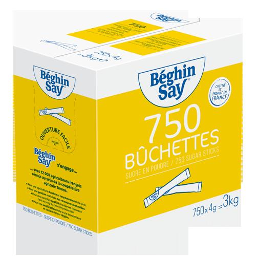 750 bûchettes de 4g Béghin Say